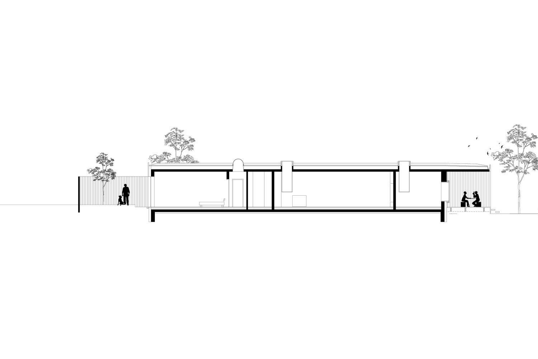 long section HEIMSPIEL architektur}