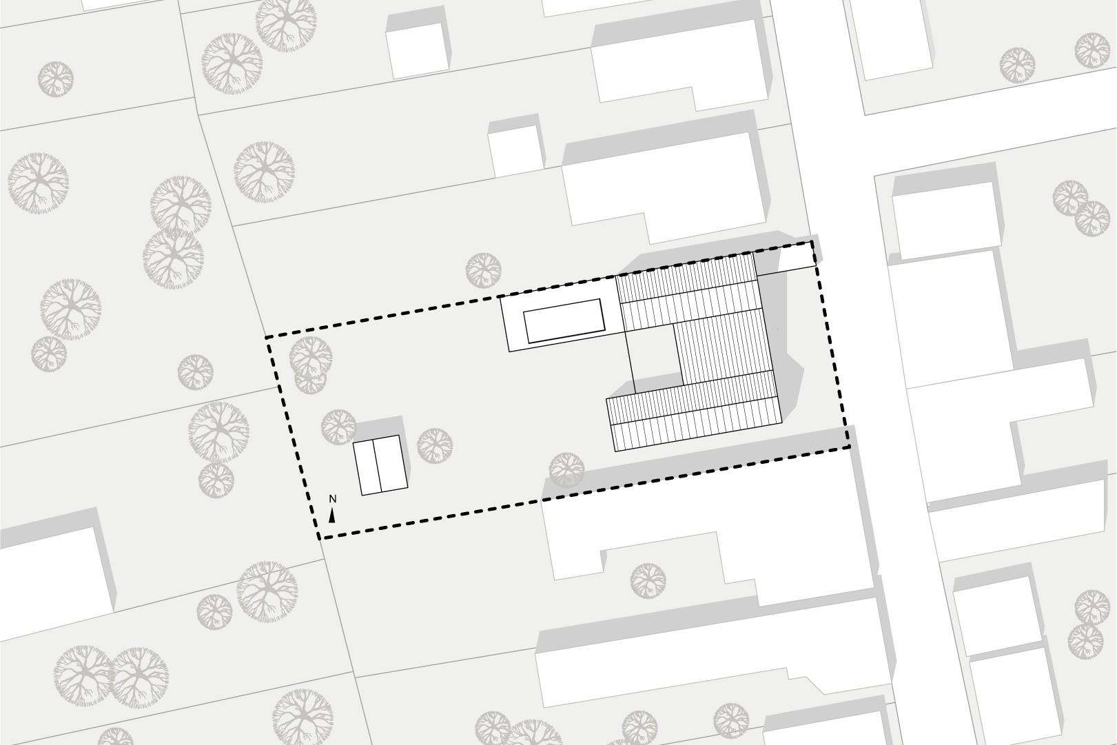 siteplan HEIMSPIEL architektur}
