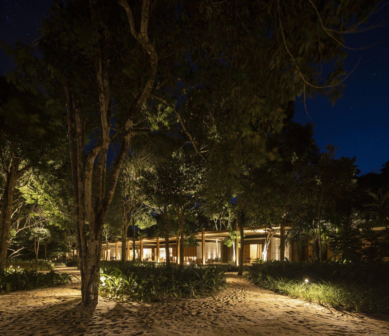 Sand house at night Fernando Guerra