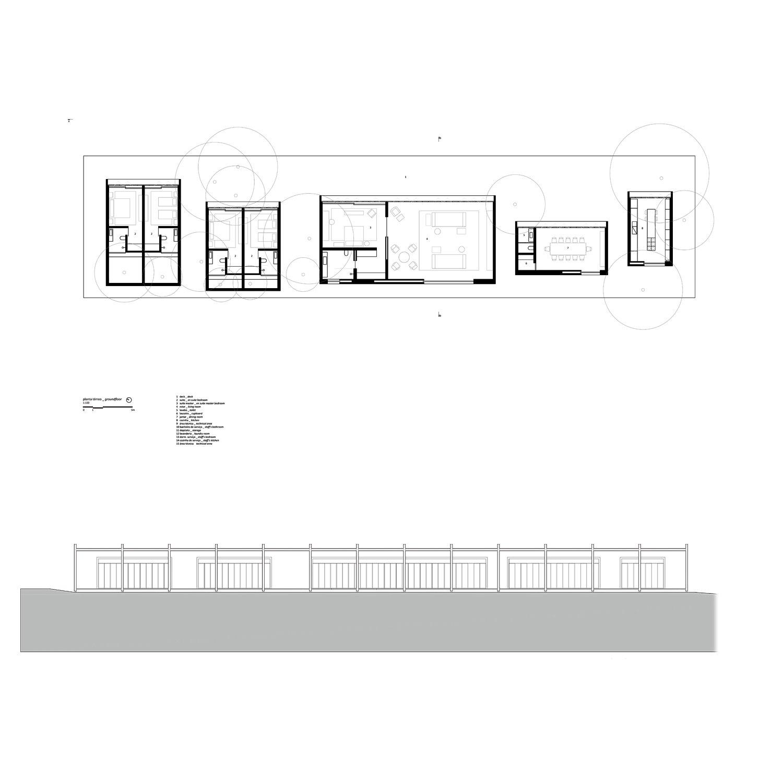 Plan and elevation Studio MK27}
