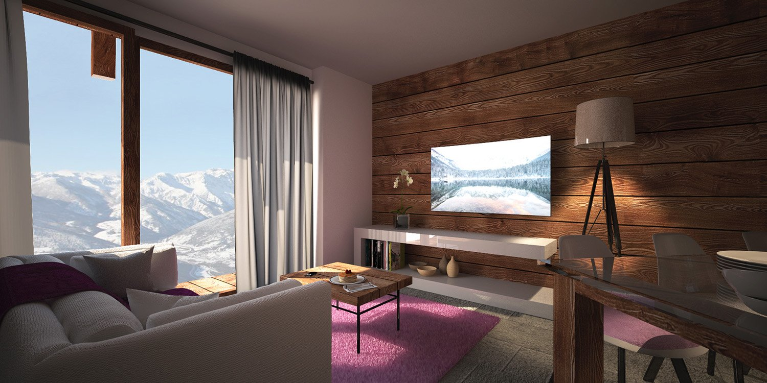 Baite Longue Vue - Render interno AB2ER architecture}
