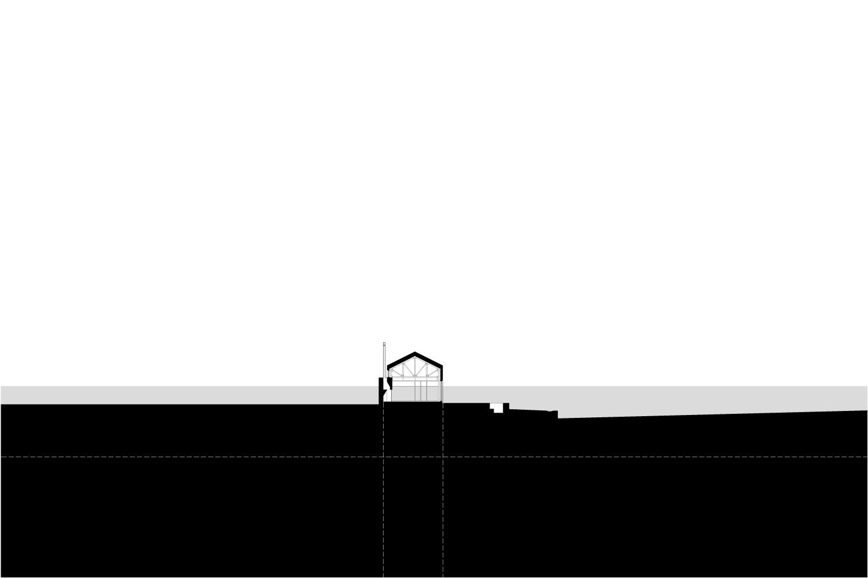 The hearth anchors the day pavilion MacKay-Lyons Sweetapple Architects}