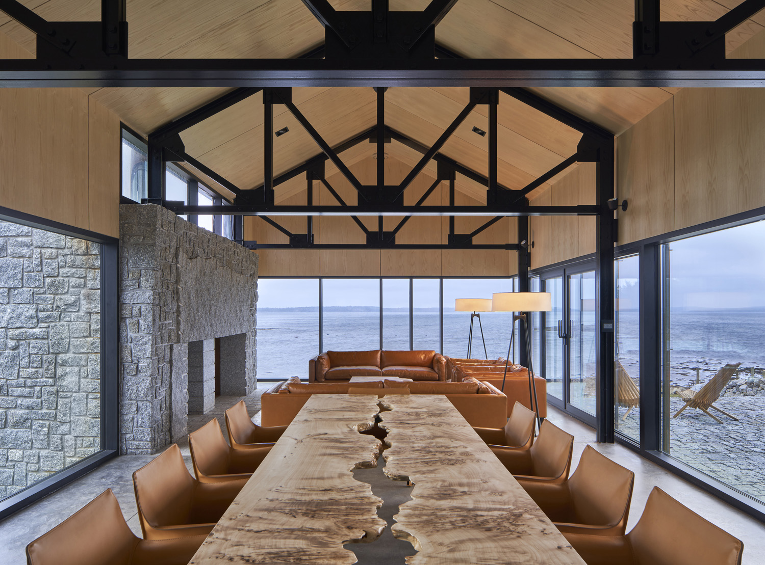 The temple-like place emphasises the absolute datum of the ocean horizon Doublespace Photography Inc