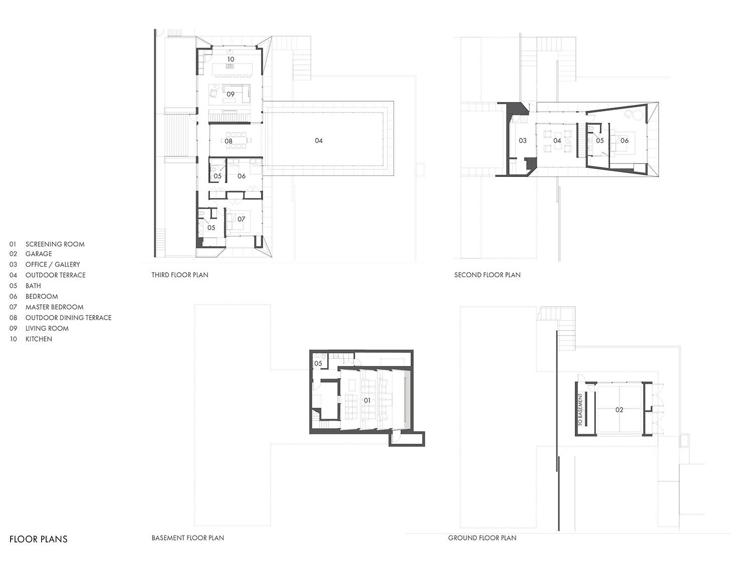 Floor plans of the residence Montalba Architects}
