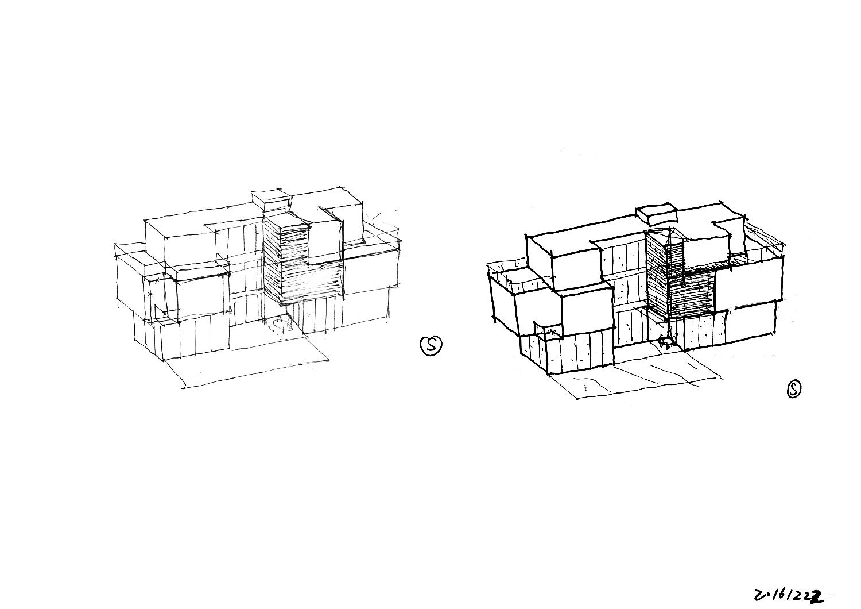 Sketch - Massing Study K2LD}