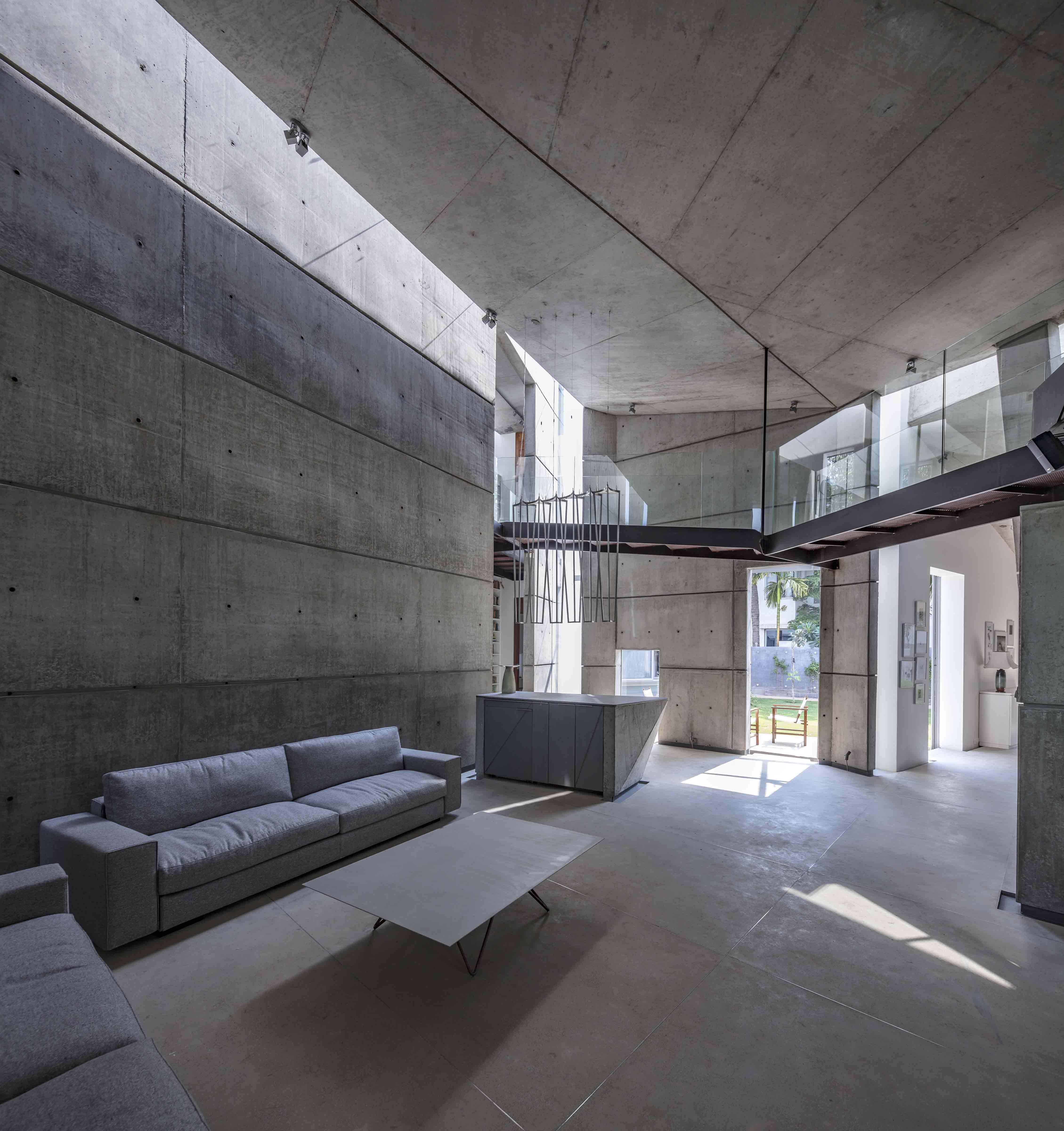 Double height living room Pallon Daruwala
