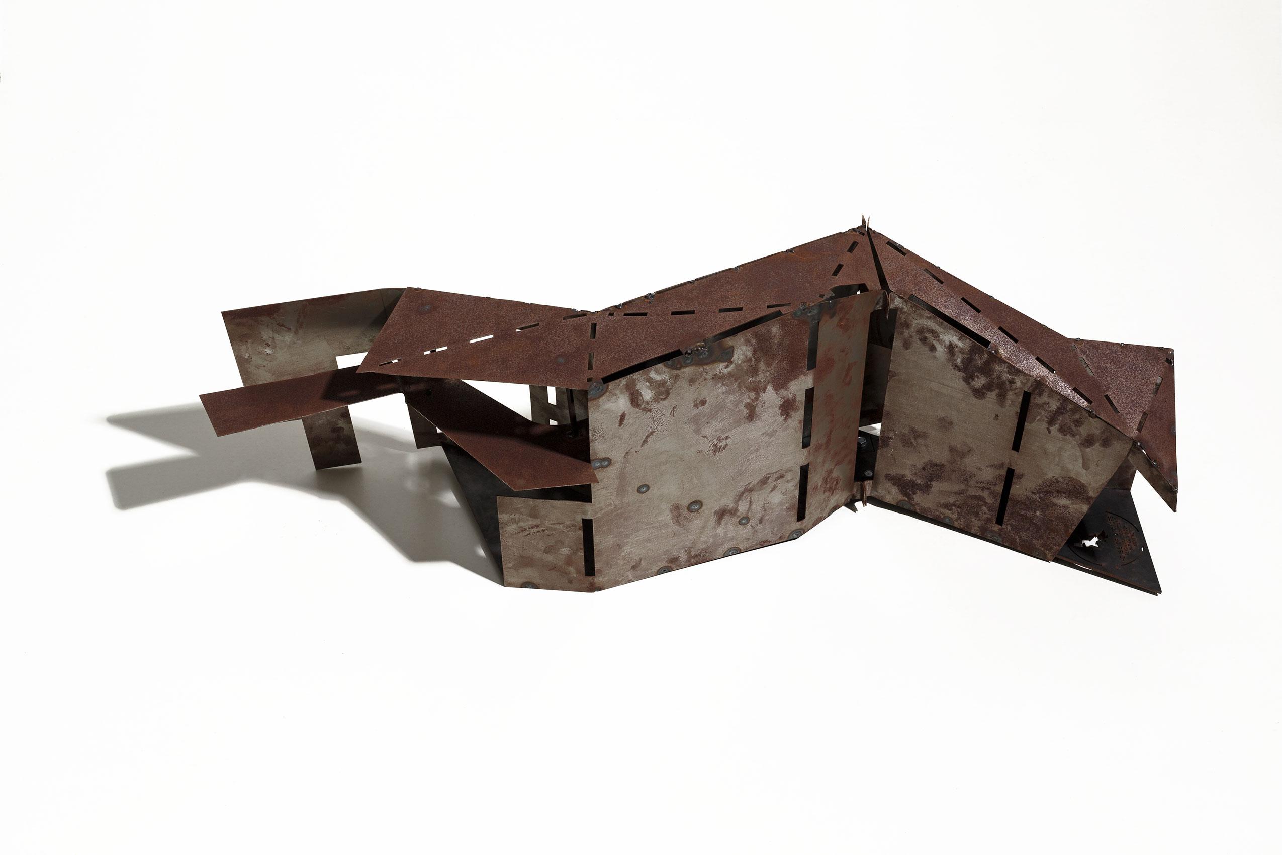 Mild steel model of entrance passage Photography - Arjun Mallik}