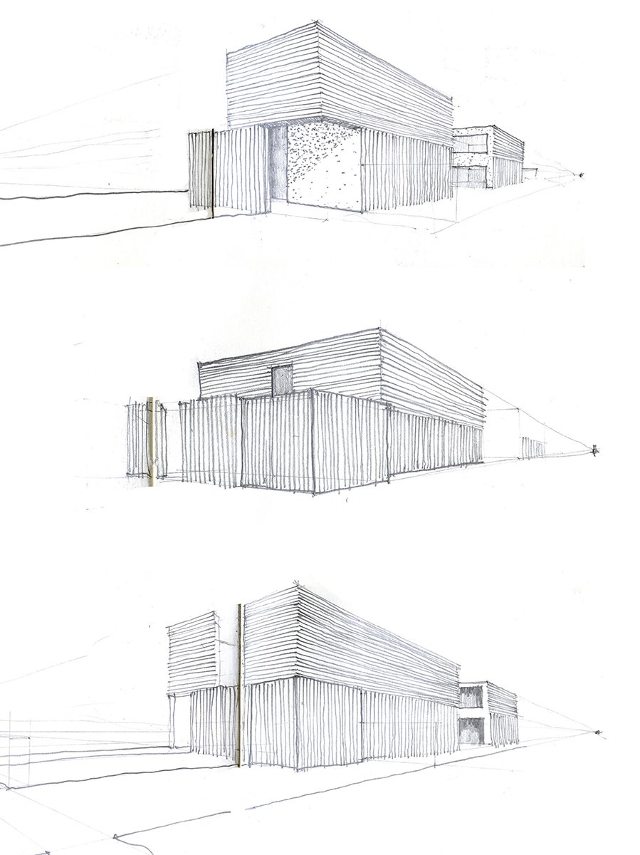 Process Sketches Sparano + Mooney Architecture}