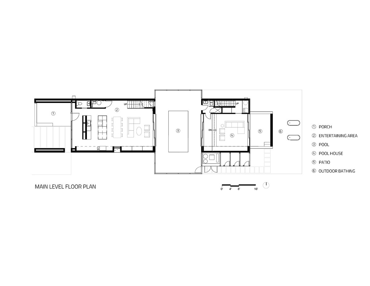 Main Level Floor Plan Sparano + Mooney Architecture}