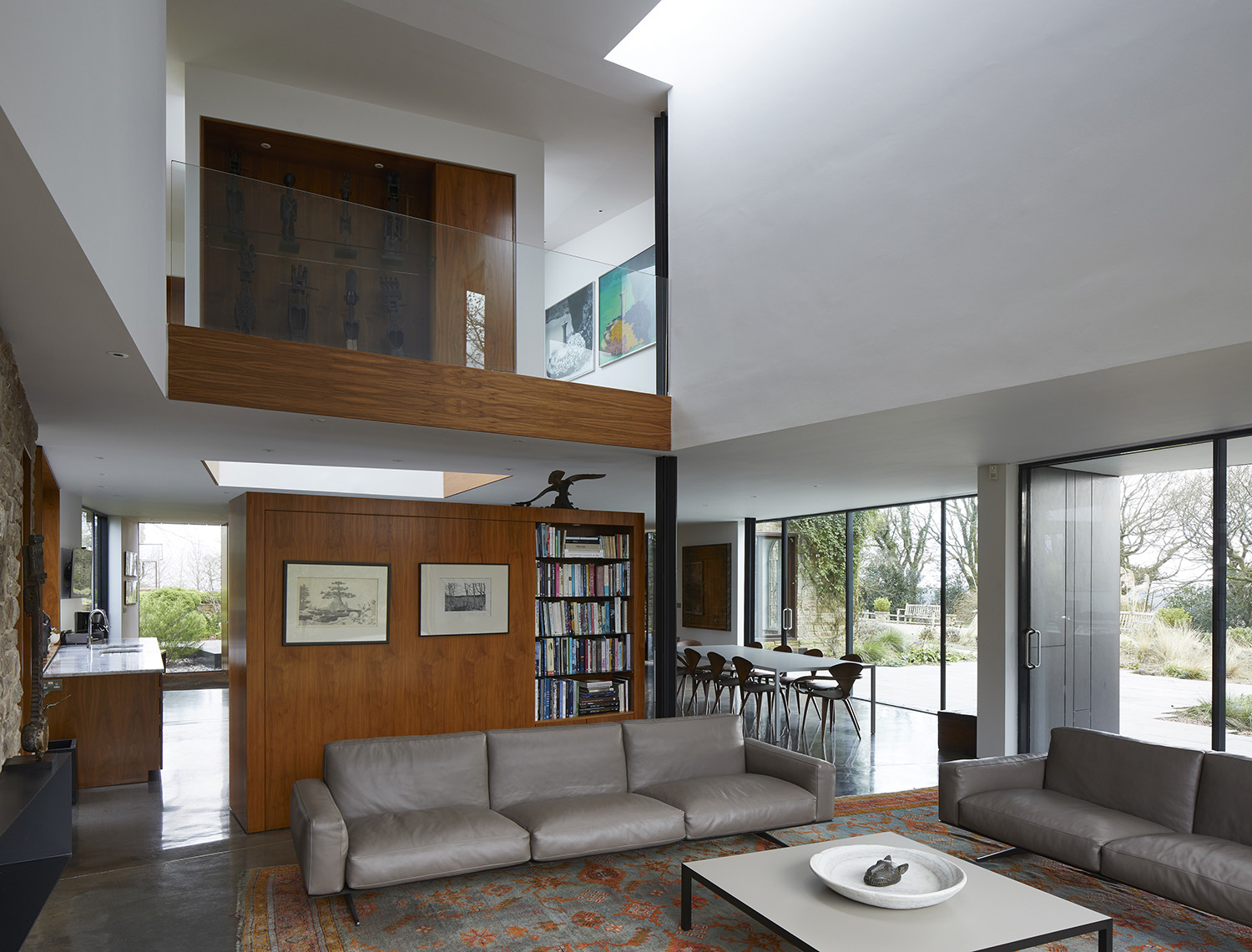 Double Height Living Area with Atrium Paul Riddle