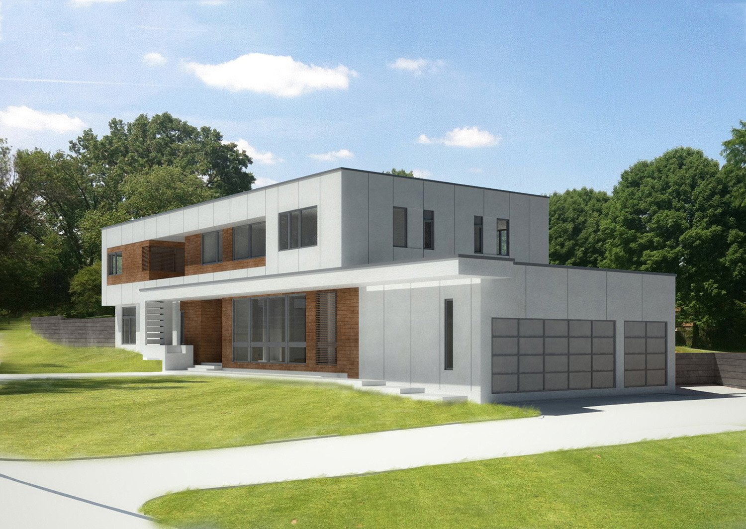 Front Garage Rendering SPG Architects}
