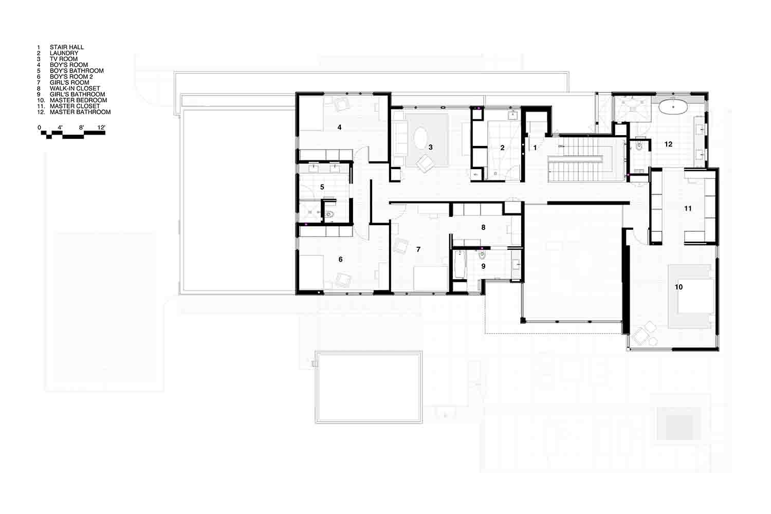 Upper Floor Plan SPG Architects}