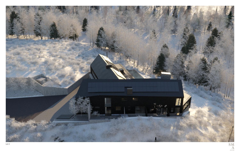 Lot 4 - West Elevation: Private guest terraces. SMA Design Team & Consultants}
