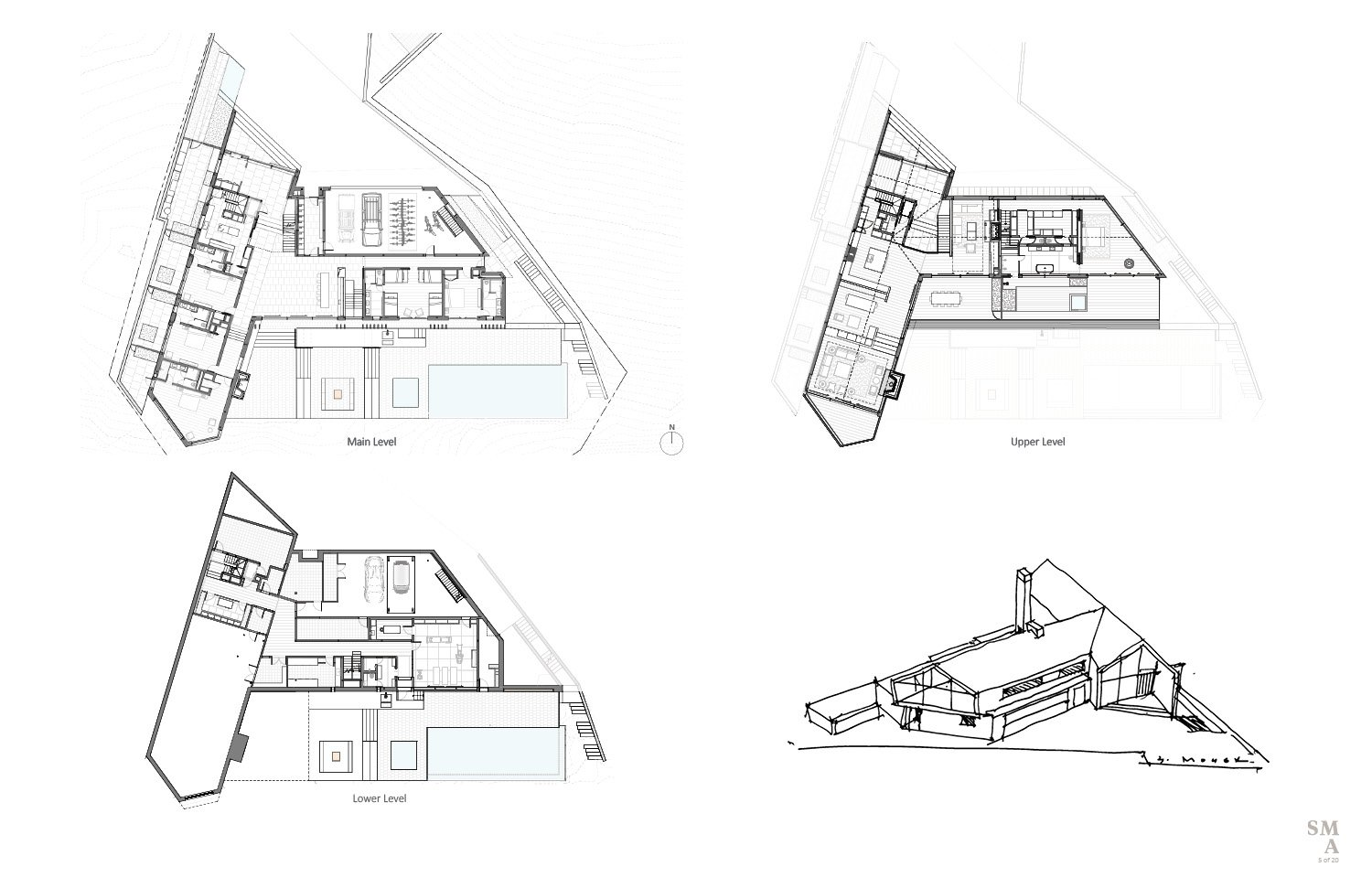 Lot 4 - Plan views and hand sketch. SMA Design Team & Consultants}