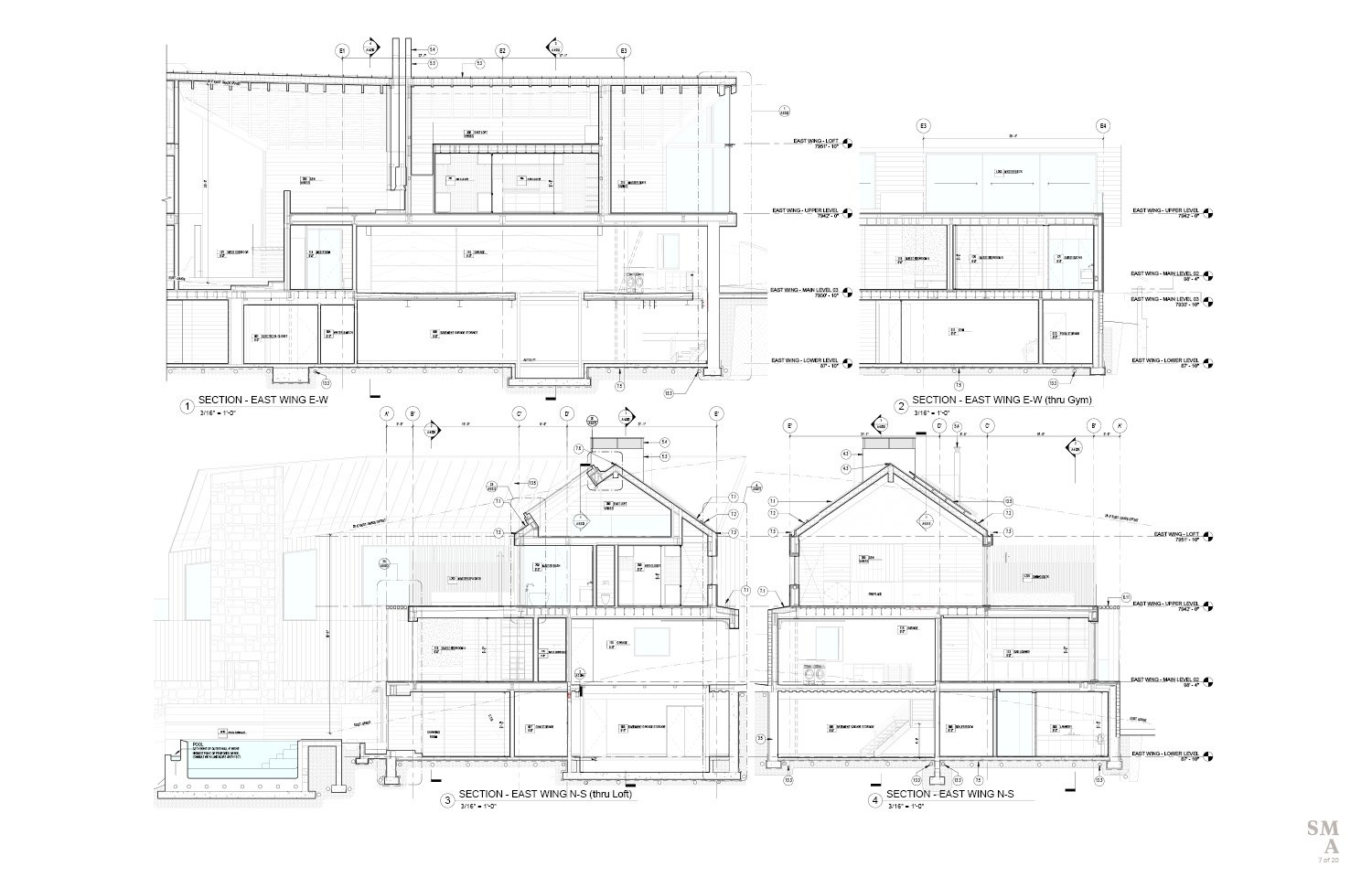 Lot 4 - East Wing Sectional Drawings. SMA Design Team & Consultants}