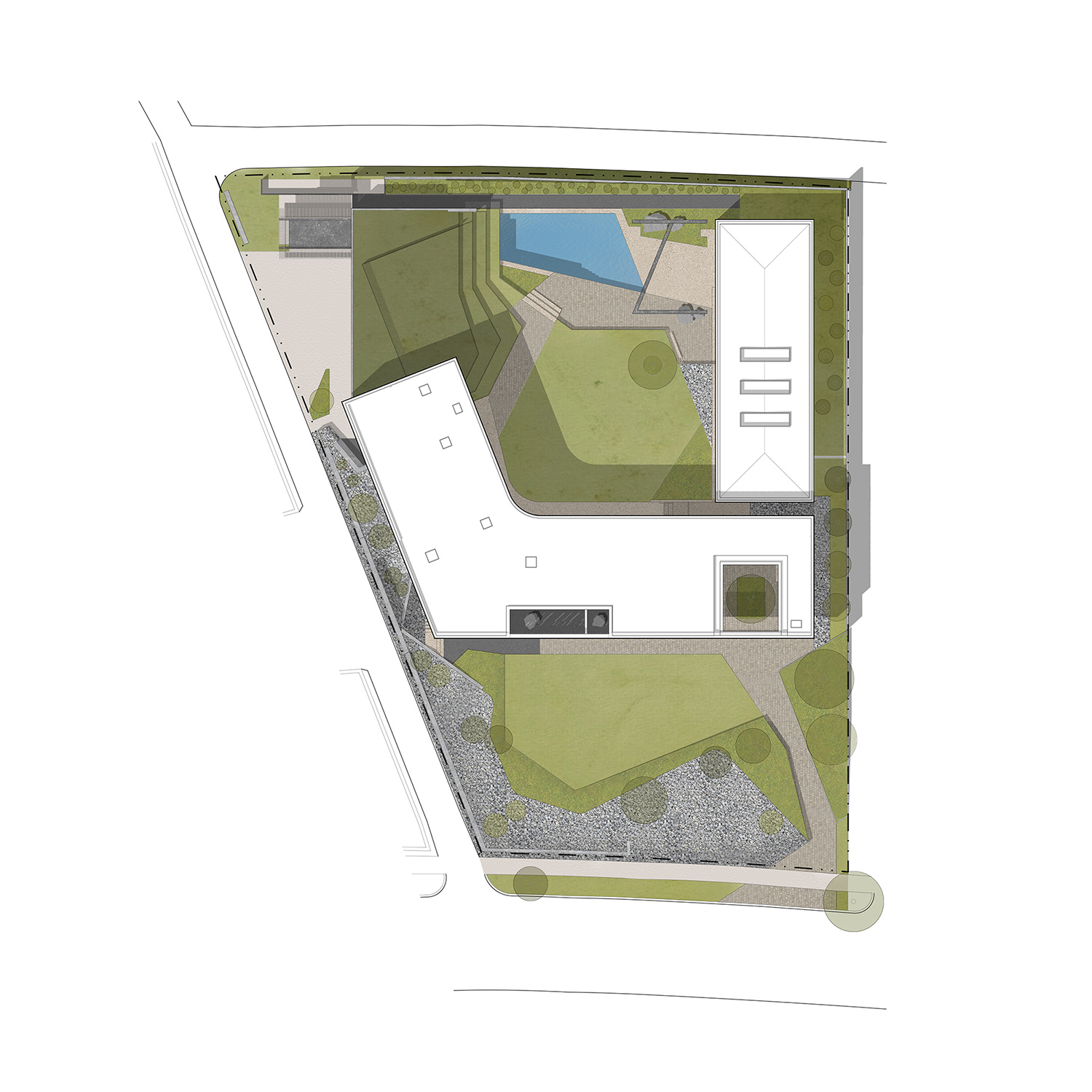 Site Plan Drawing by Alterstudio Architecture}