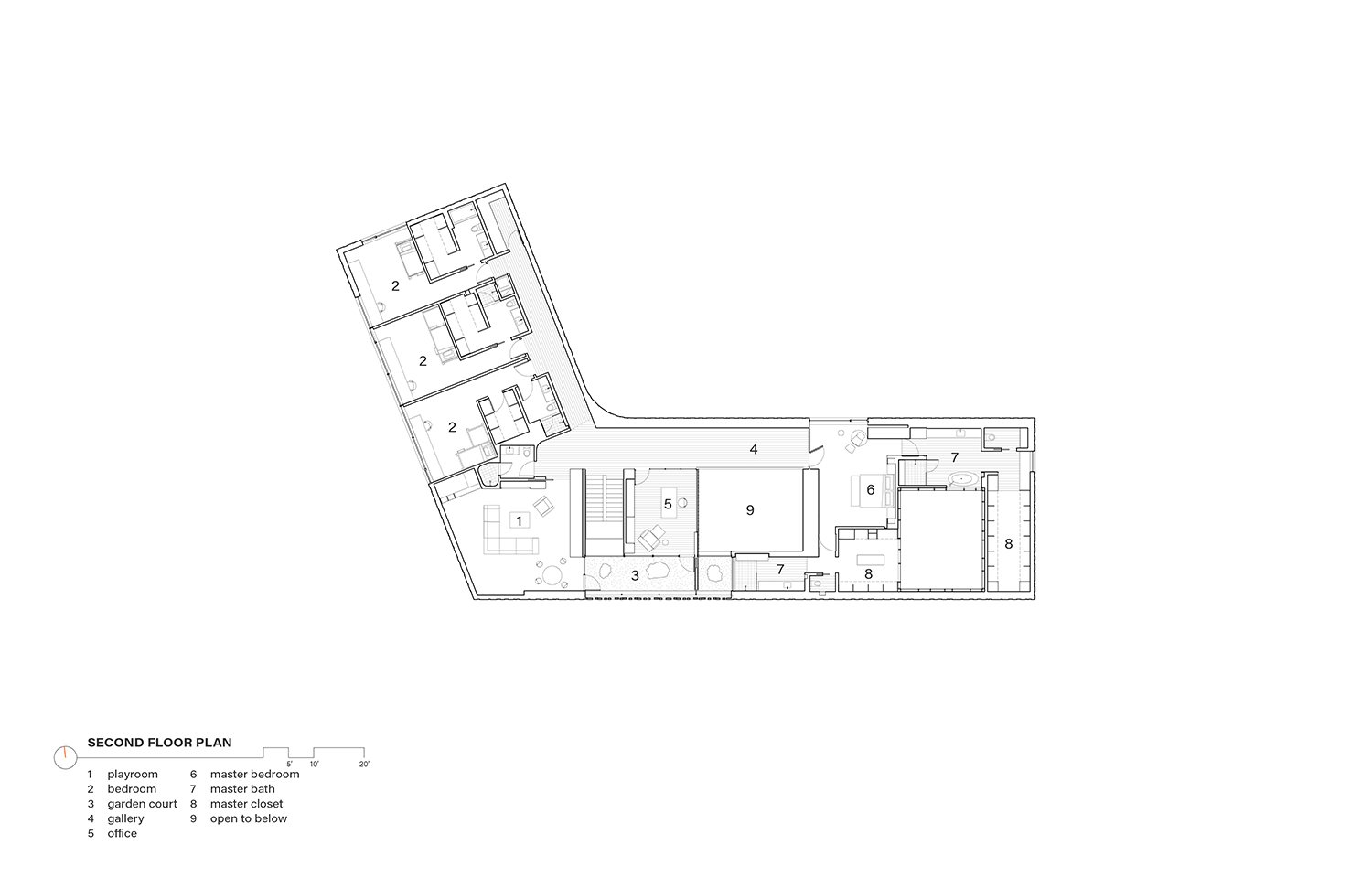 Second Floor Plan Drawing by Alterstudio Architecture}