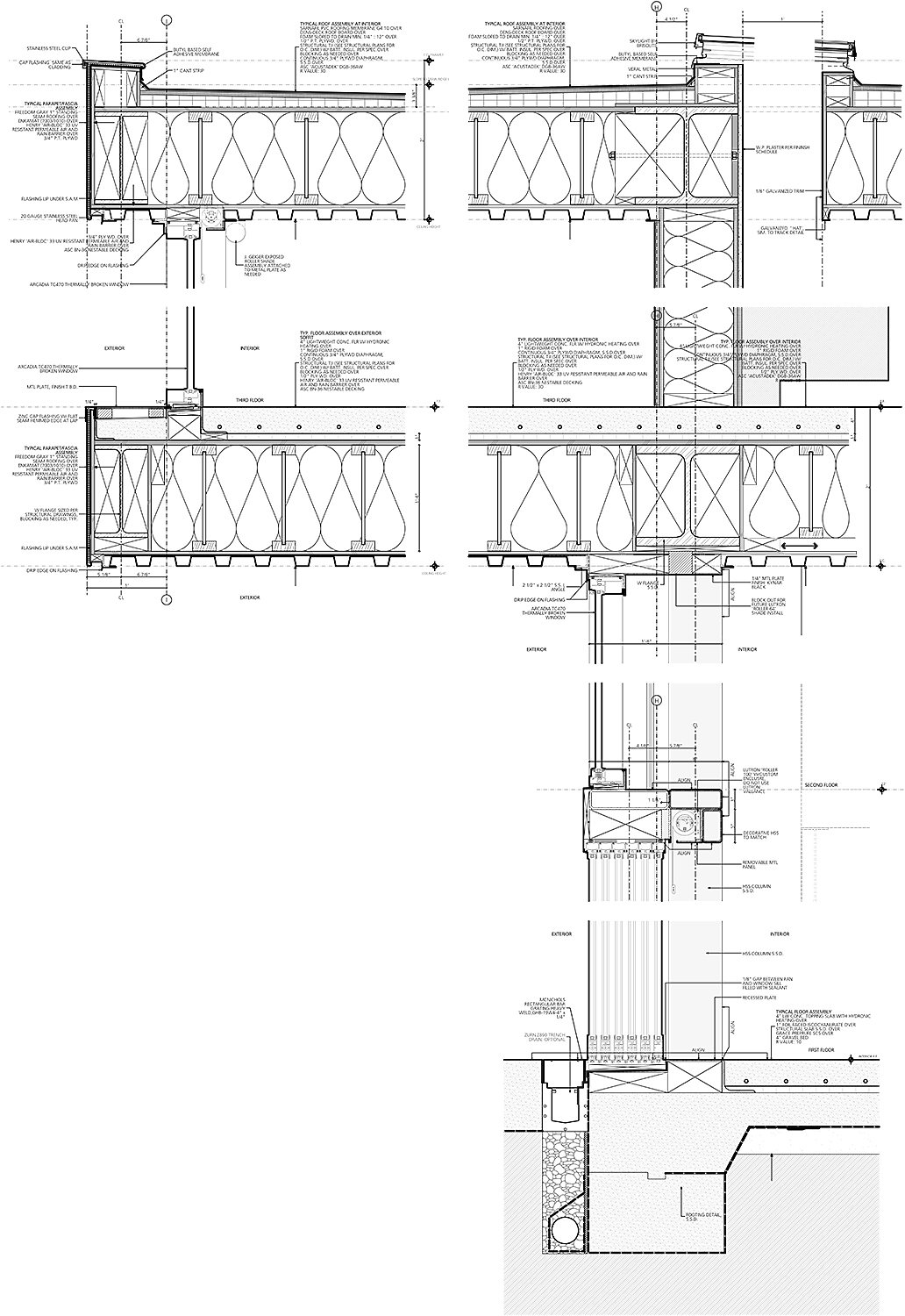 Technical Drawing: Section Details OPA}