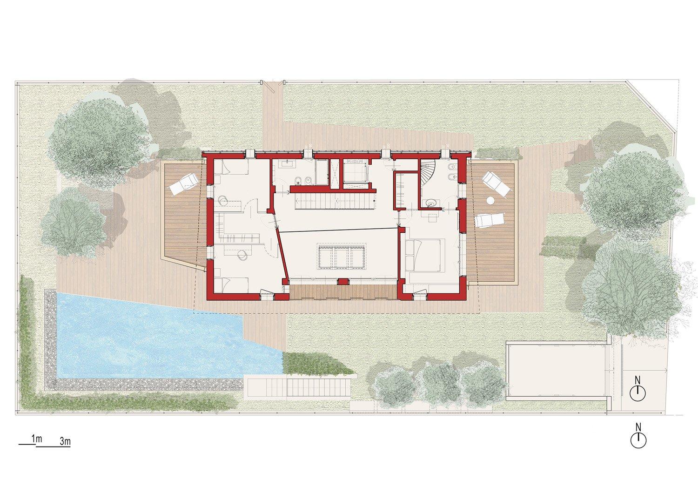 First floor plan angus fiori architects}