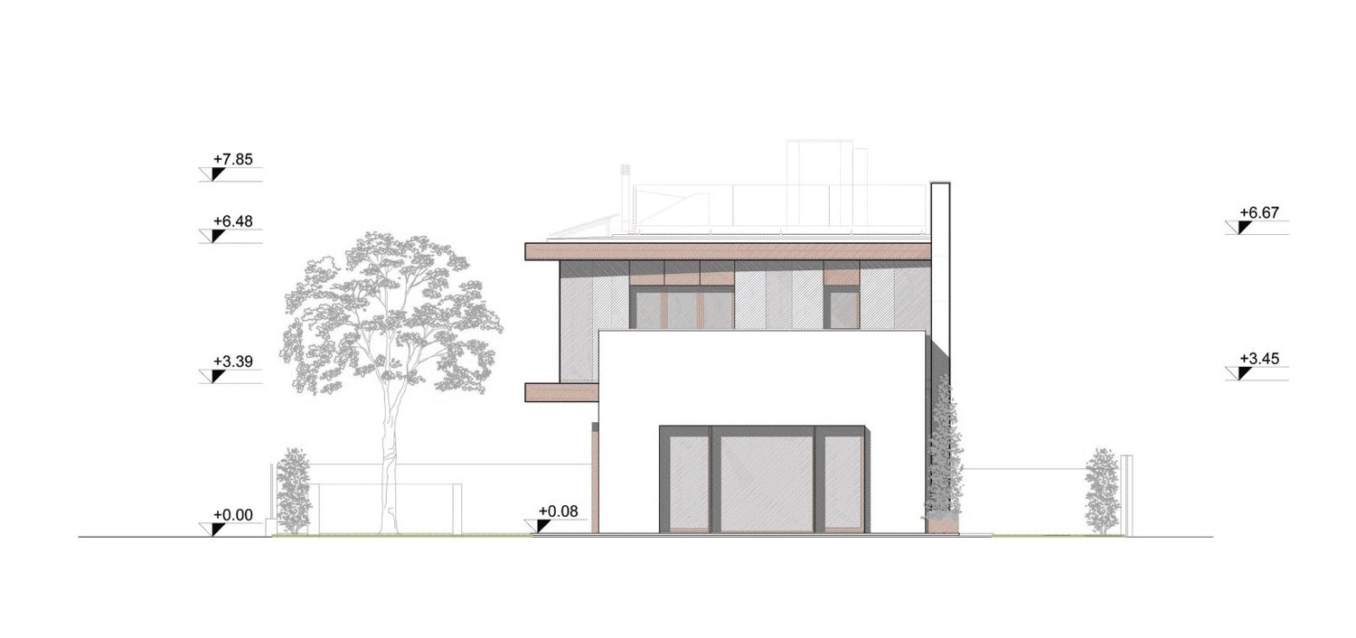 East elevation angus fiori architects}