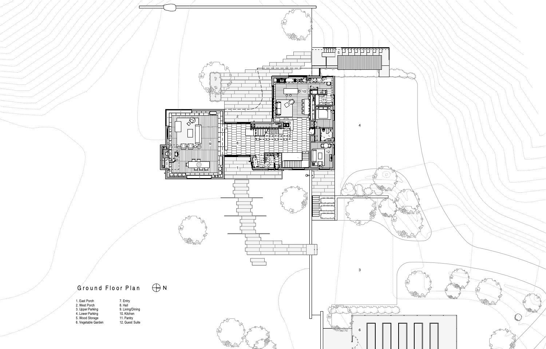 Ground Floor Plan Guzy Architects}