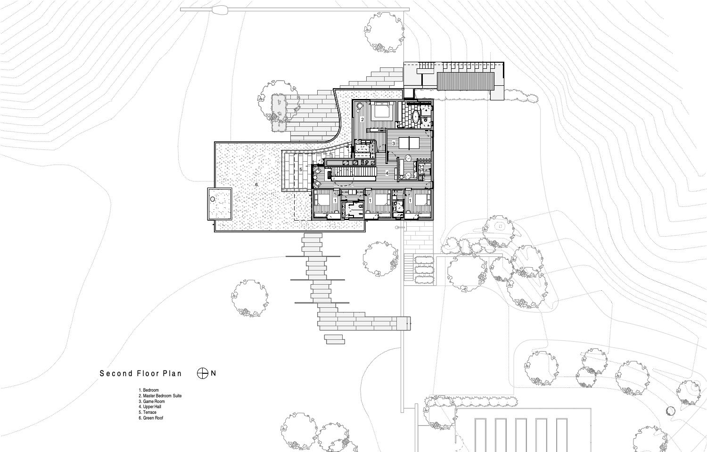 Second Floor Plan Guzy Architects}