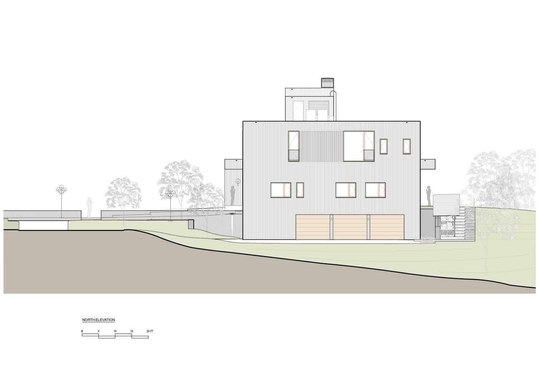 North Elevation Guzy Architects}