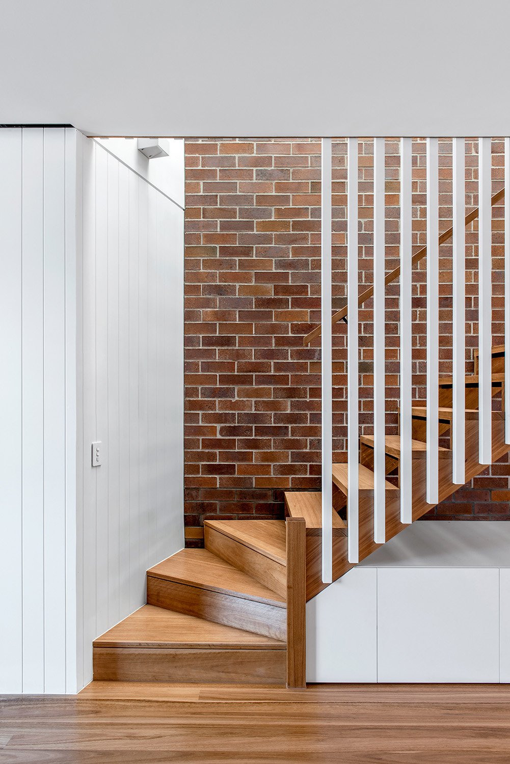 Staircase with integrated joinery Cathy Schusler