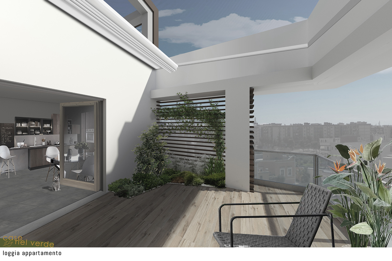loggia appartamento il cielo in una stanza PS_Architetture