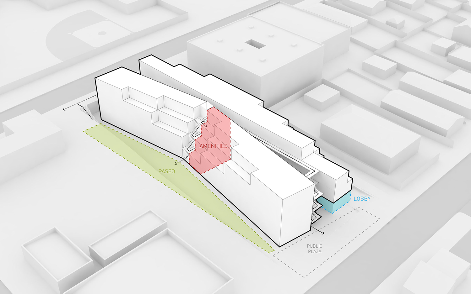 Dillon617 Concept Massing Diagram Lorcan O'Herlihy Architects [LOHA]}
