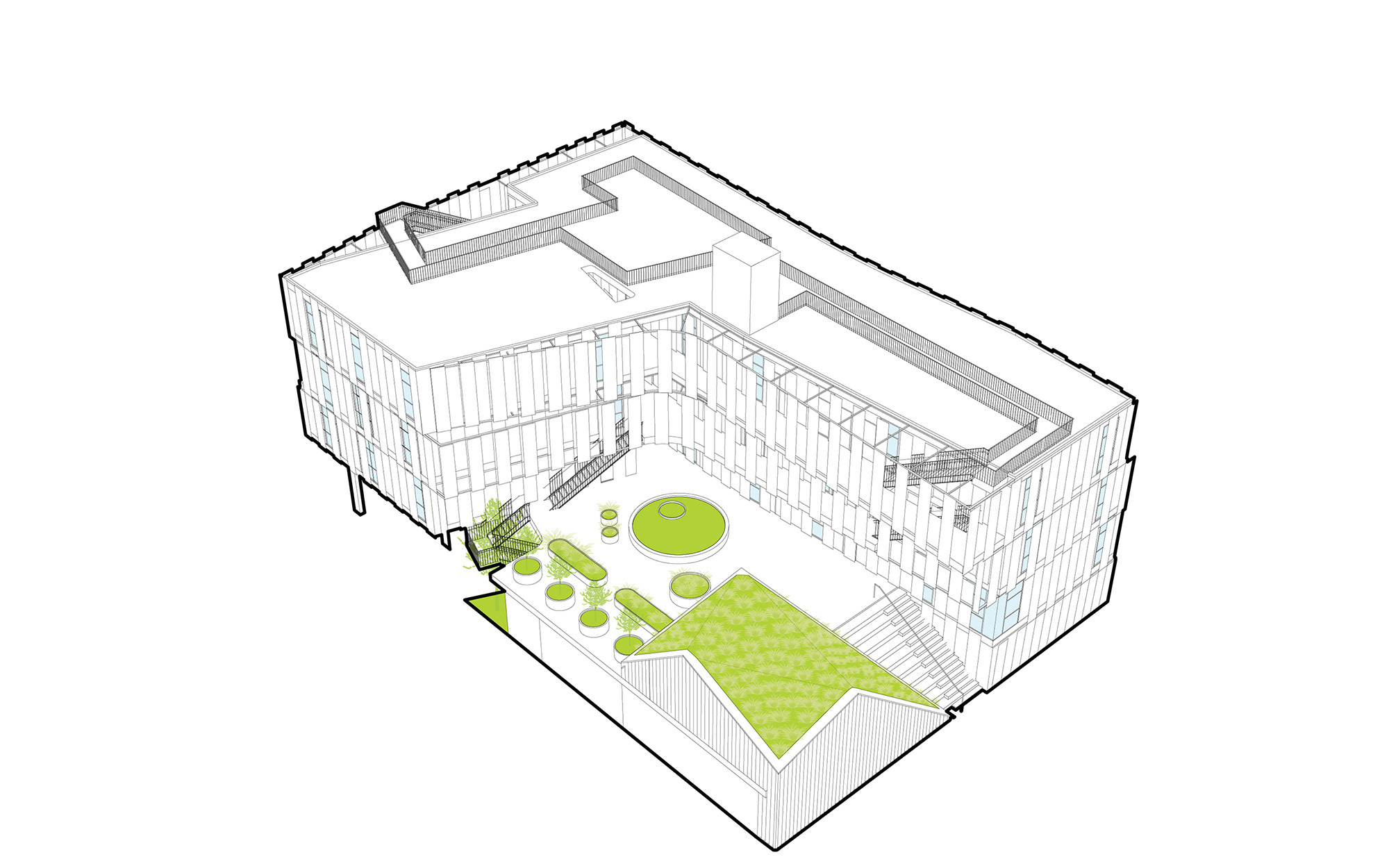 MLK1101 Supportive Housing - Massing Concept 2 Lorcan O'Herlihy Architects [LOHA]}