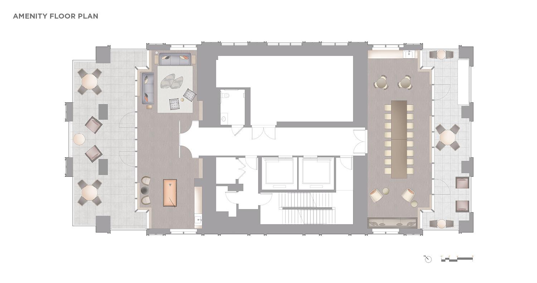 Amenity Floor Plan CetraRuddy Architecture}