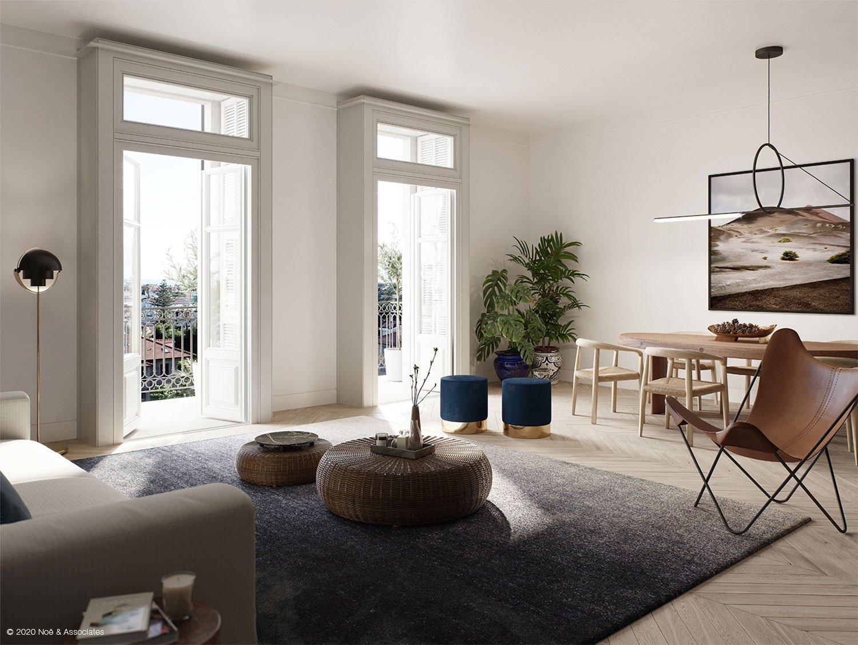 APARTMENT LIVING ROOM Render: Noë & Associates - Interior Tectoo srl