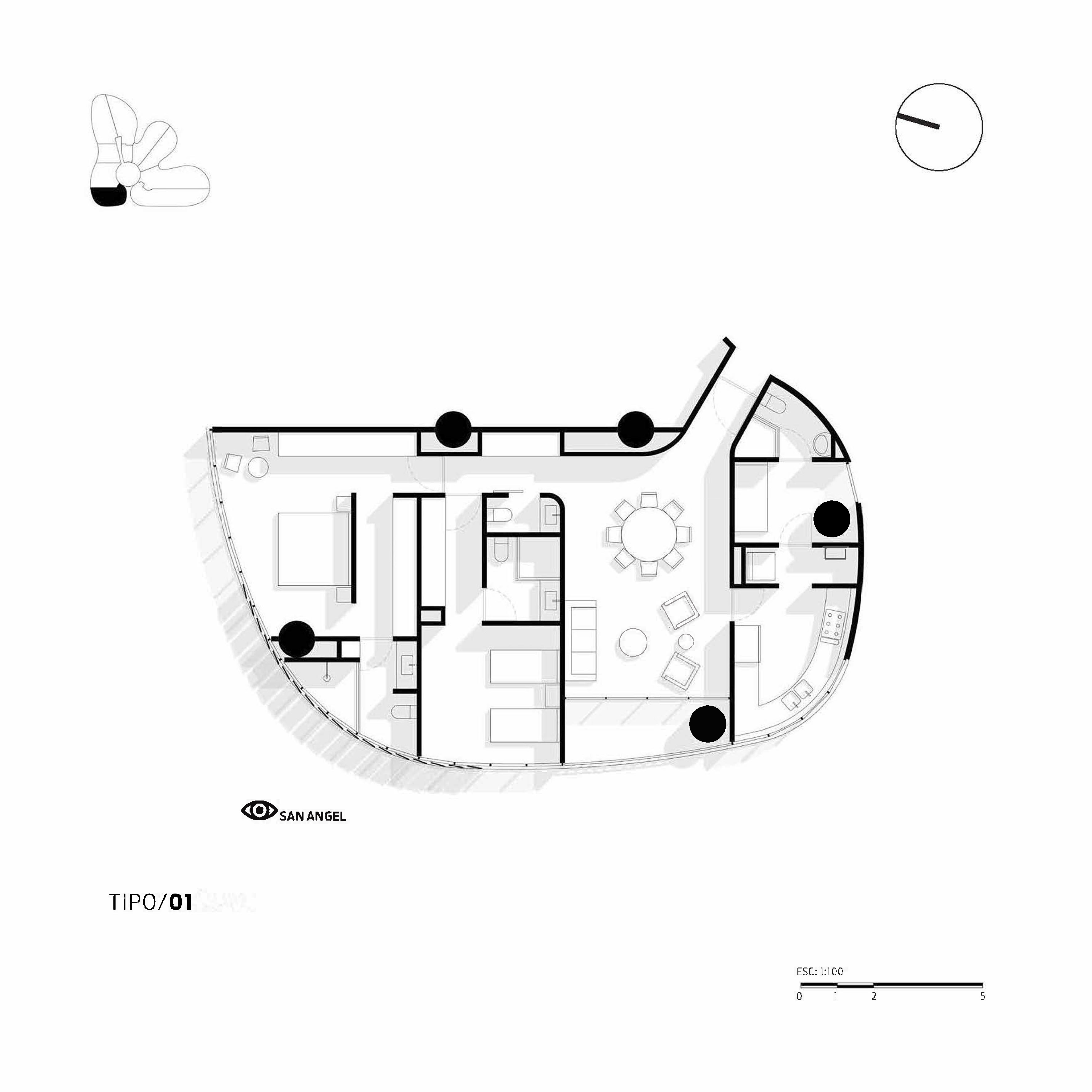 Apartment Type 1 Miguel de la Torre Arquitectos}