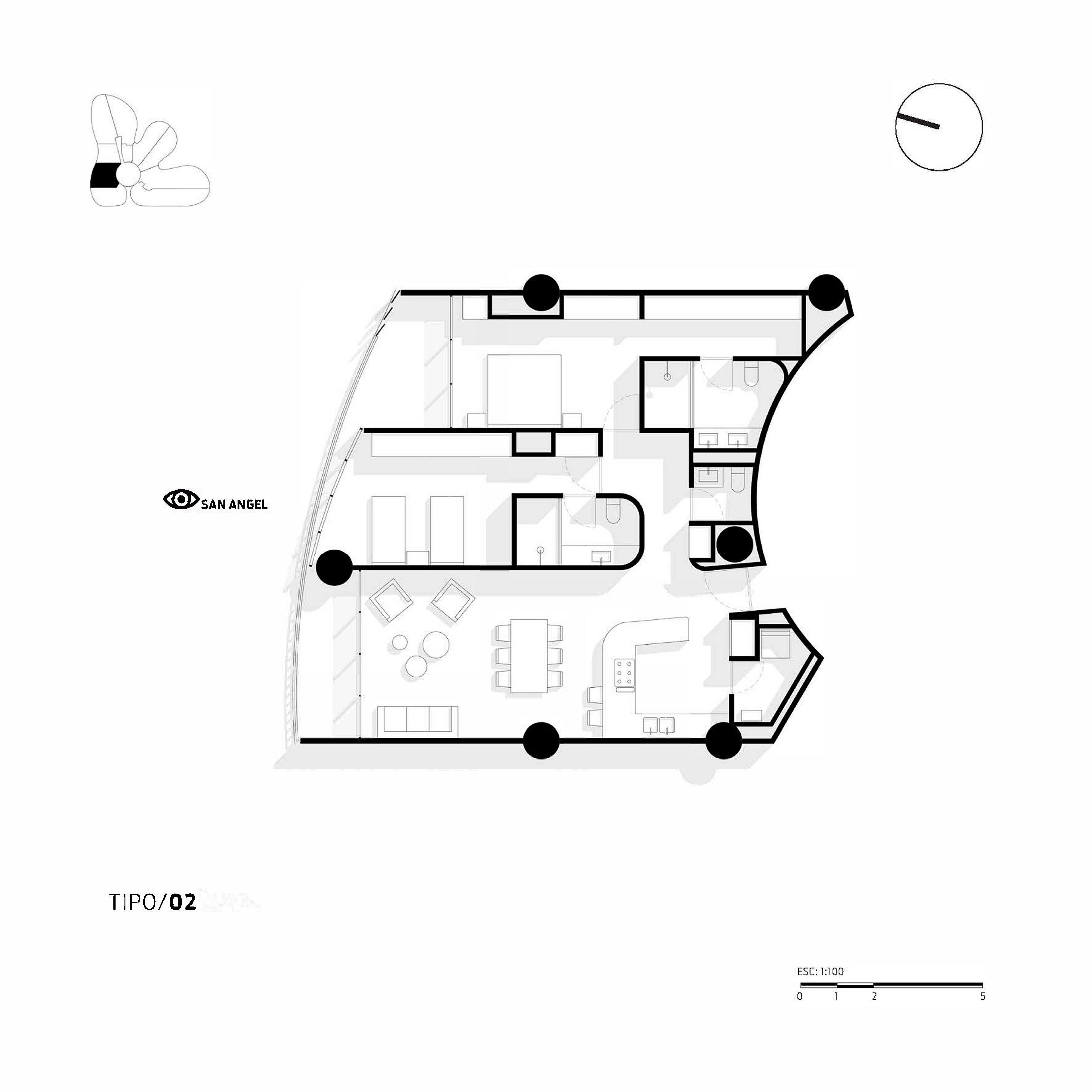 Apartment Type 2 Miguel de la Torre Arquitectos}
