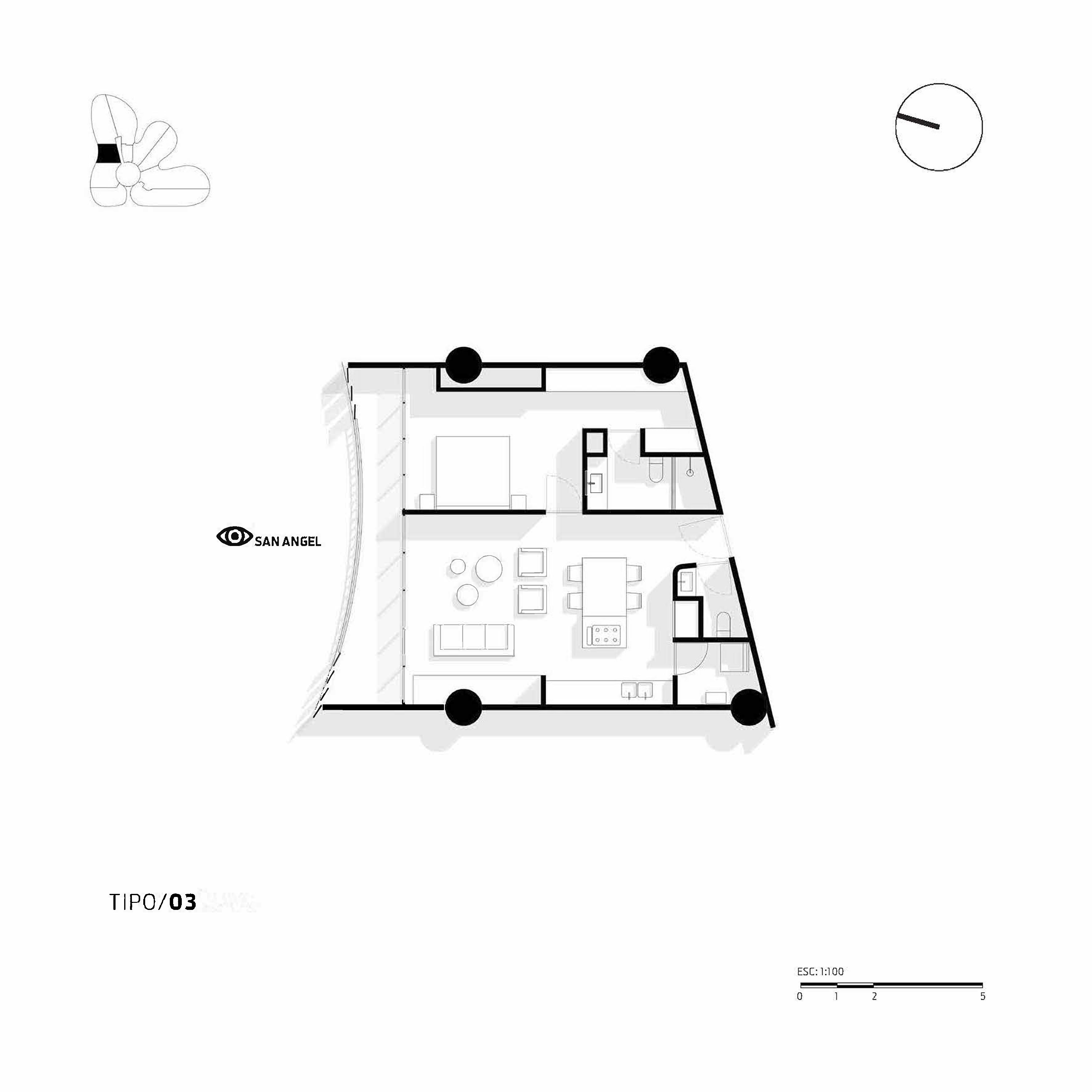 Apartment Type 3 Miguel de la Torre Arquitectos}