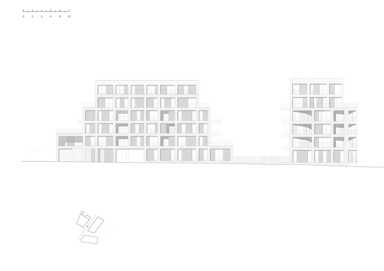 EAST ELEVATION Avenier Cornejo Architectes}