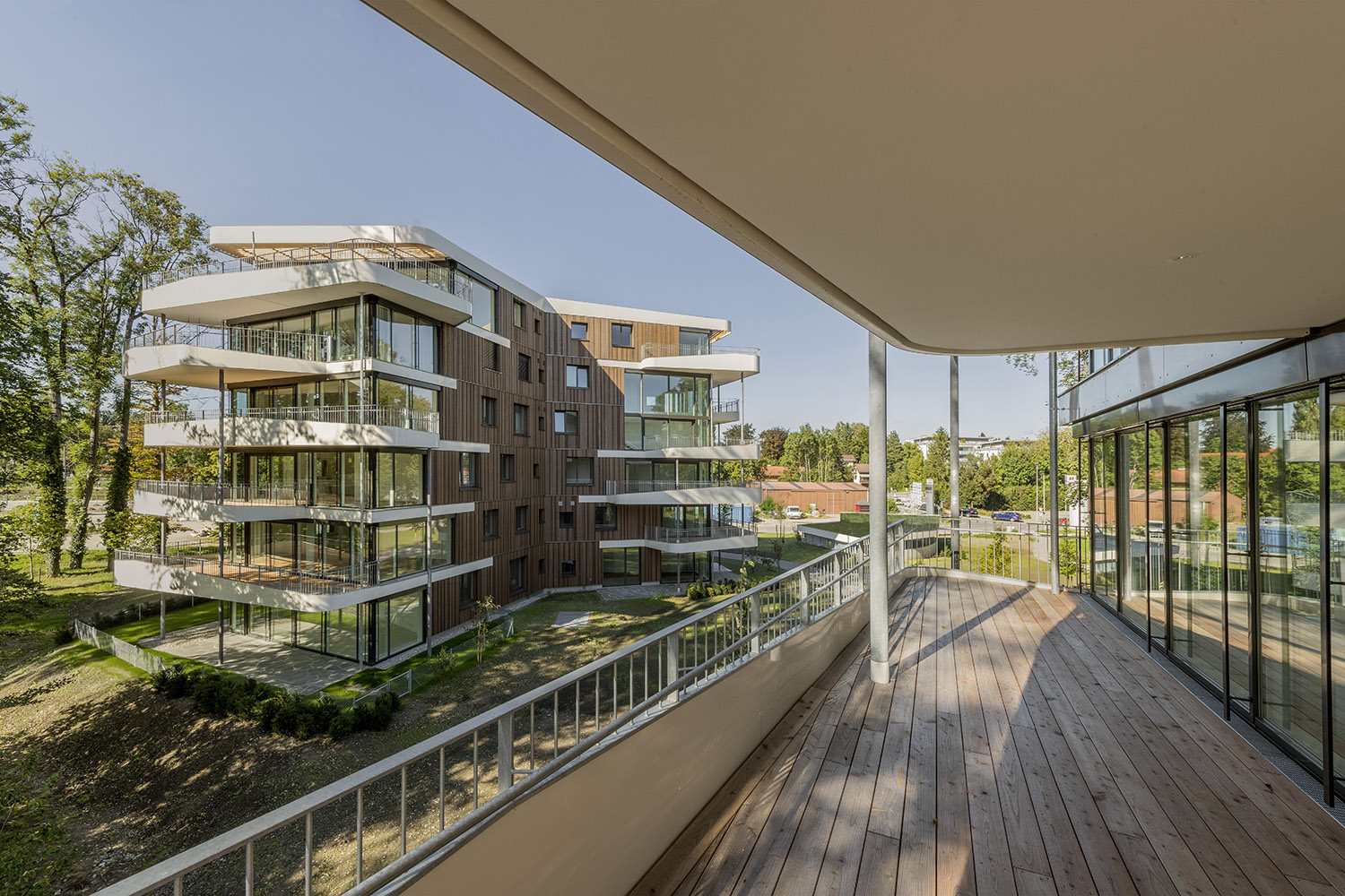 The balconies create additional, private outdoor areas. David Matthiessen