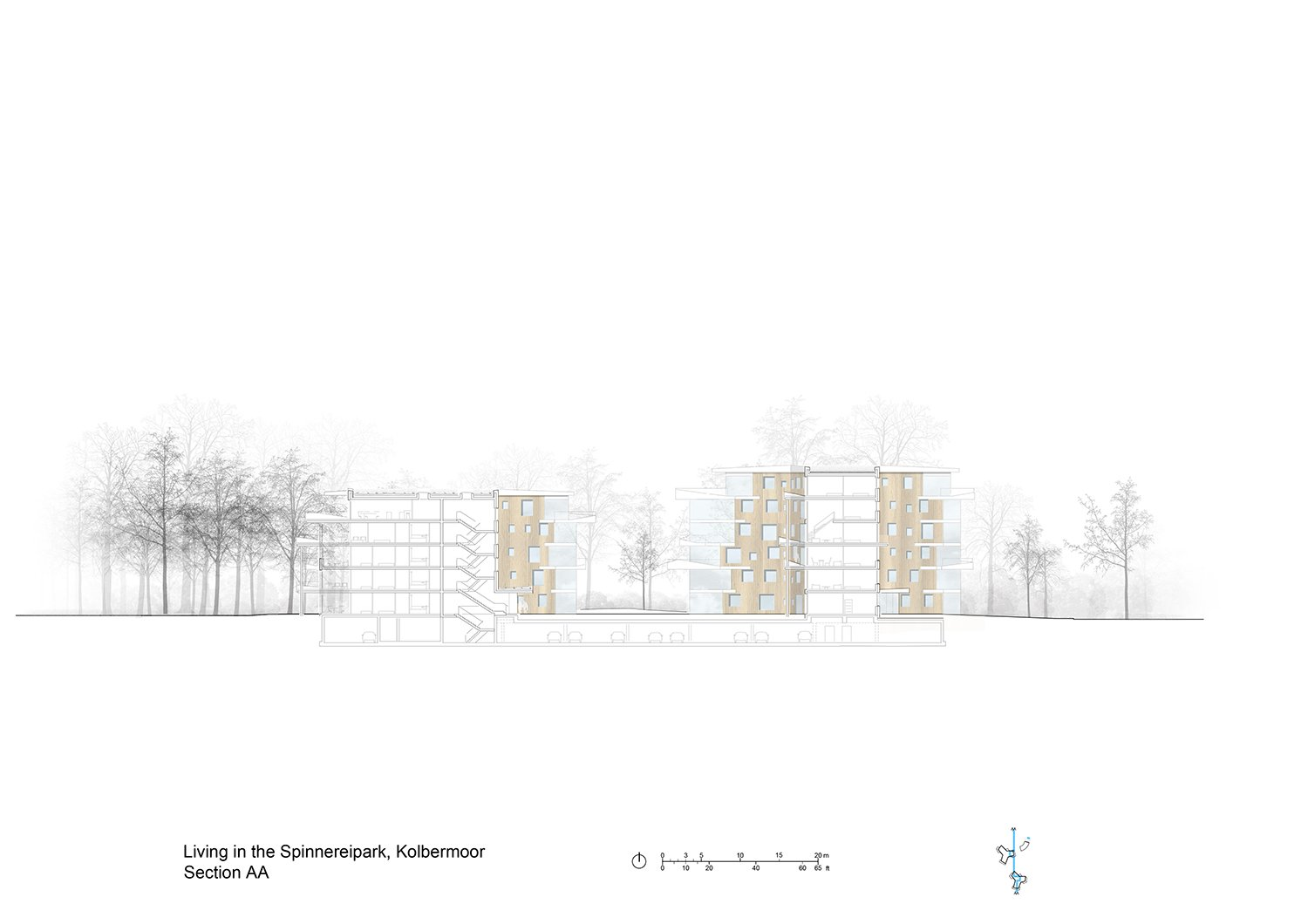 Section AA Behnisch Architekten}
