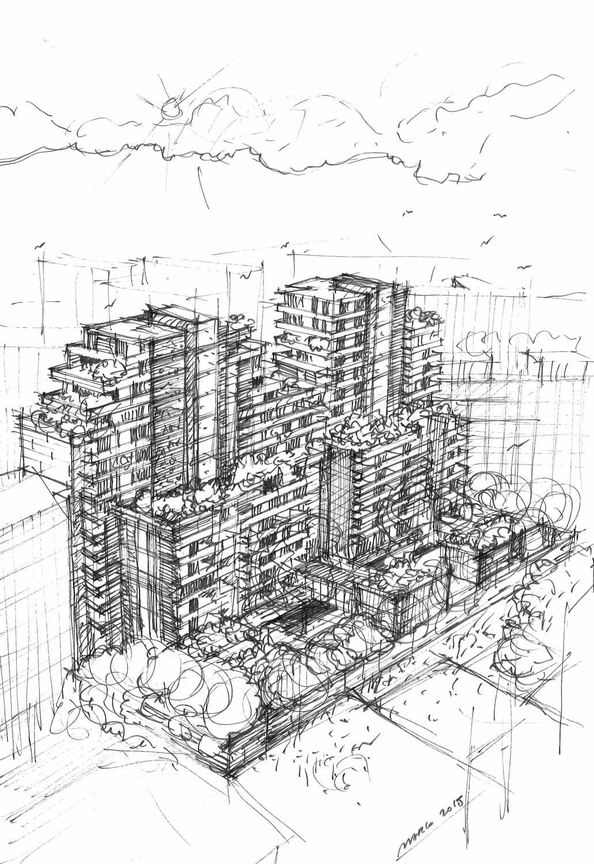 Princype_schizzo, progetto Studio Marco Piva disegno Architetto Marco Piva}