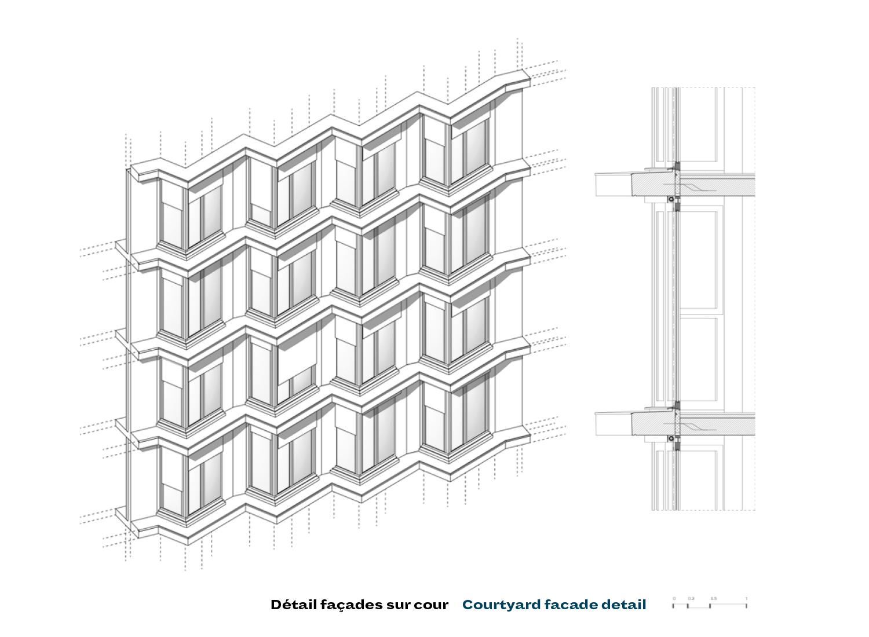 Details of the heart facade PETITDIDIERPRIOUX Architectes}