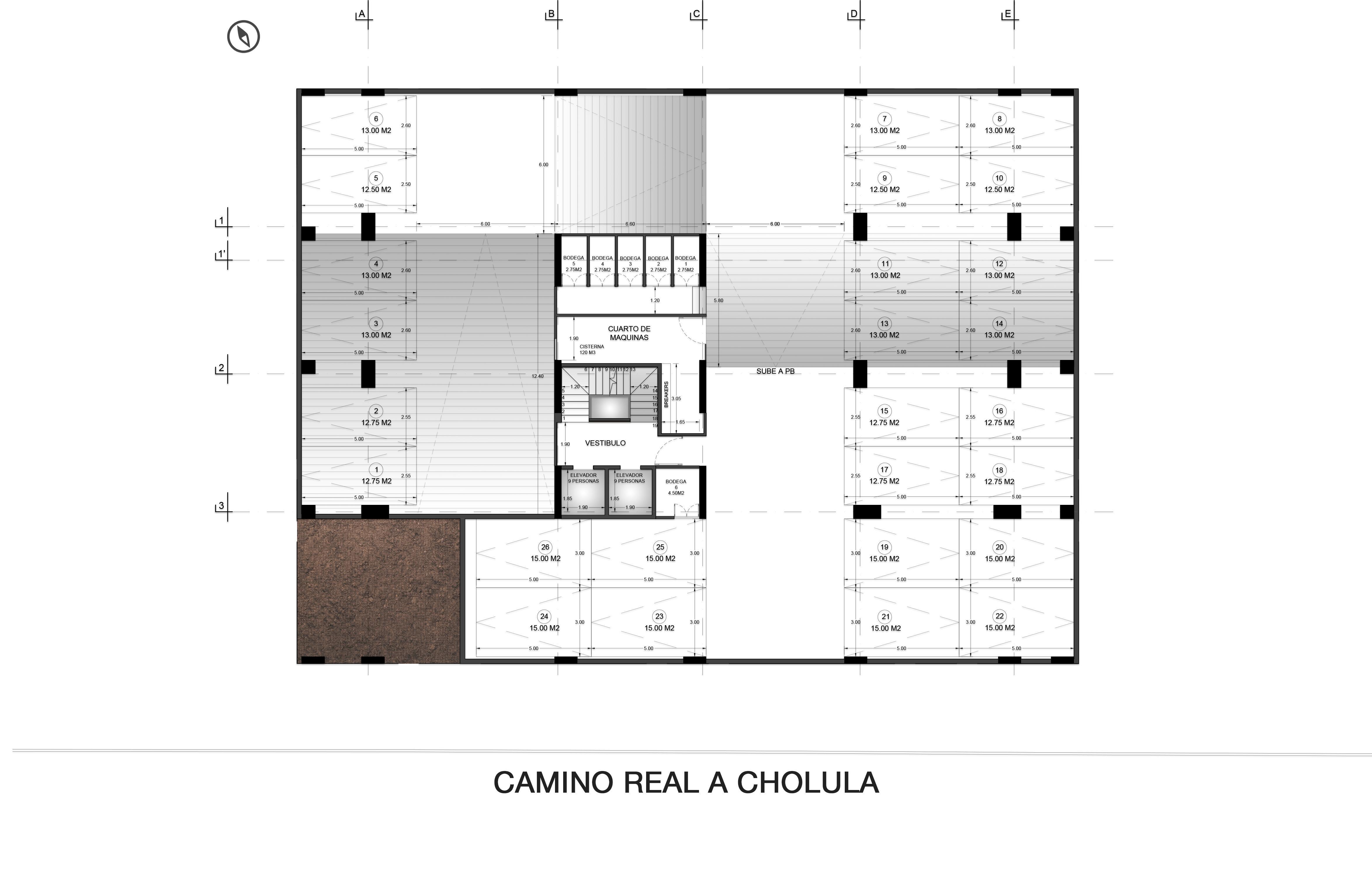Basement Floor Plan Valdez Arquitectos}