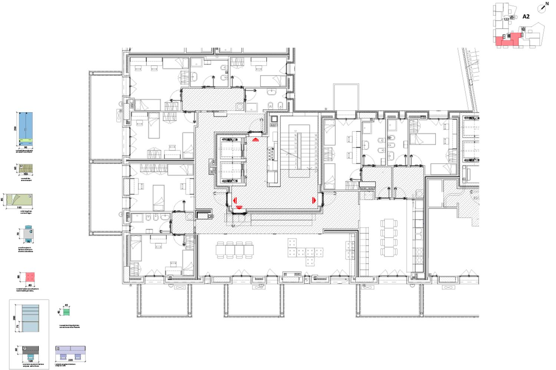 Pianta residenze Cohousing ed A1 Atelier(s) Alfonso Femia e Cooperativa}