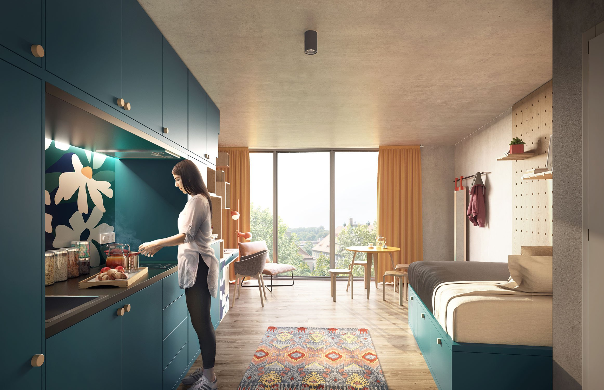 Room interior Render by Studio Aisslinger