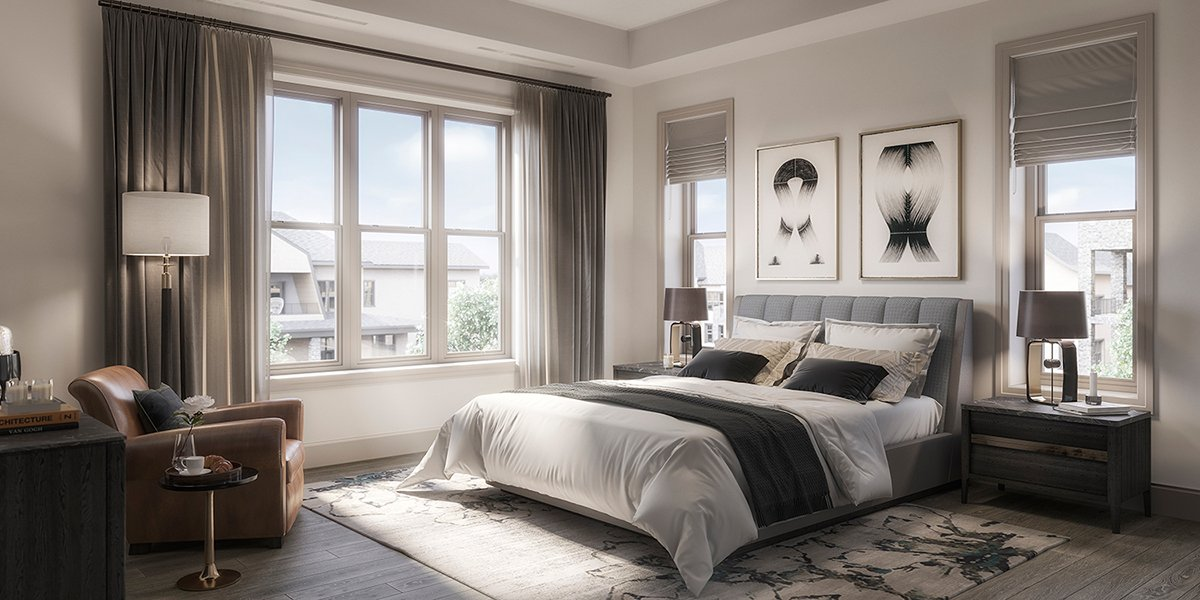 The Residence Bedroom, a calming oasis perfect for a good night's sleep Forrest Perkins