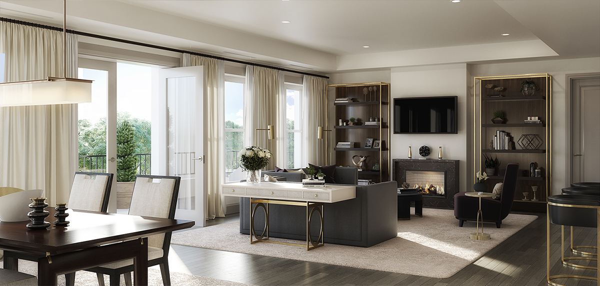 The Residence Living Room, an intimate spot to relax with friends and family Forrest Perkins
