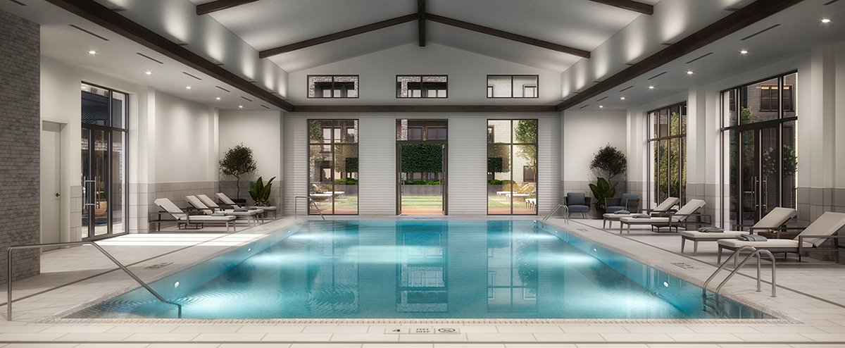 The Pool, with oversized doors opening into the courtyard Forrest Perkins