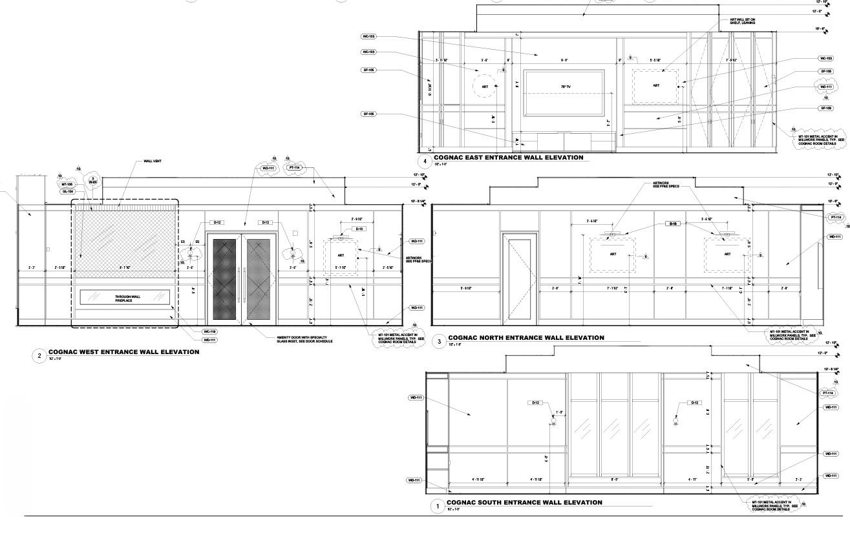 Cognac Room Interior Elevations Forrest Perkins}