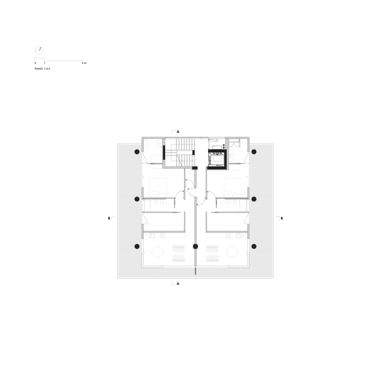 Pianta Piani 1, 2 e 3 LVL Architettura}