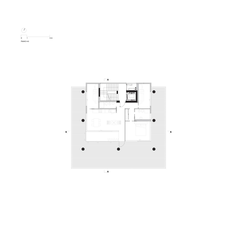 Pianta Piani 4 e 5 LVL Architettura}